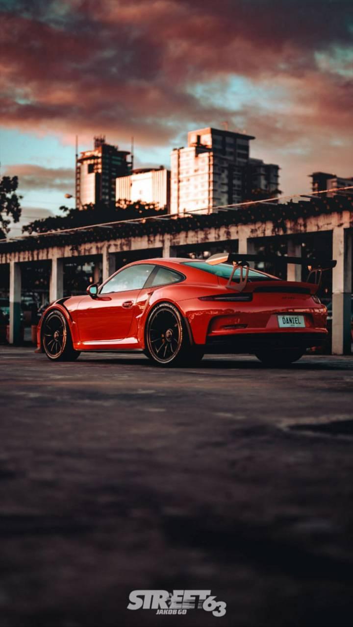 Red Porsche GT3RS