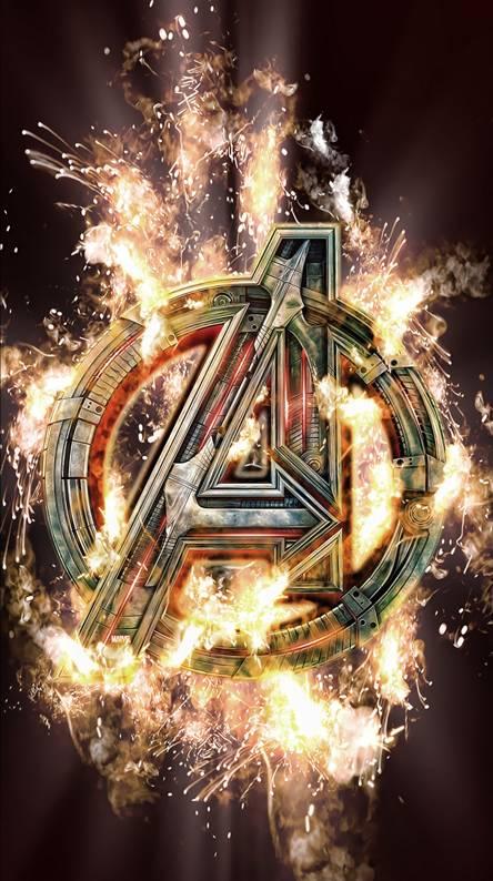Avengers Logo Flame
