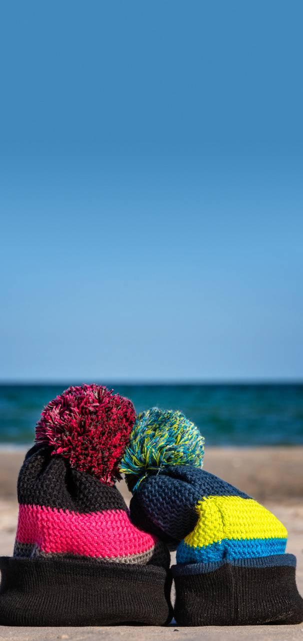 Caps on Beach