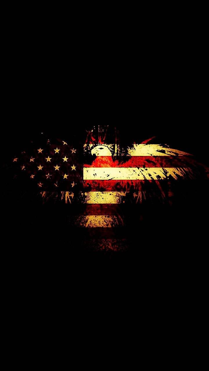 Eagle Flag Rusty