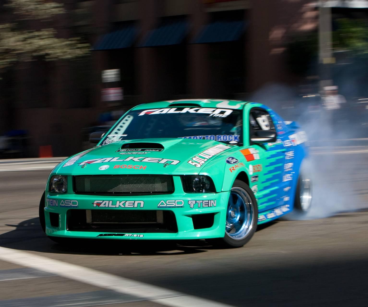 Mustang In Drift