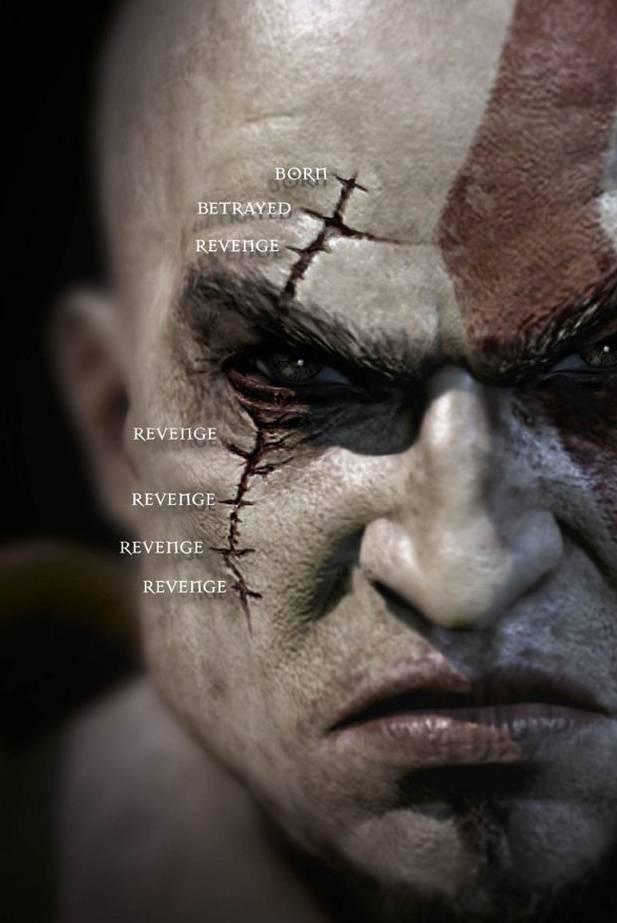 Gow3 Kratos Face