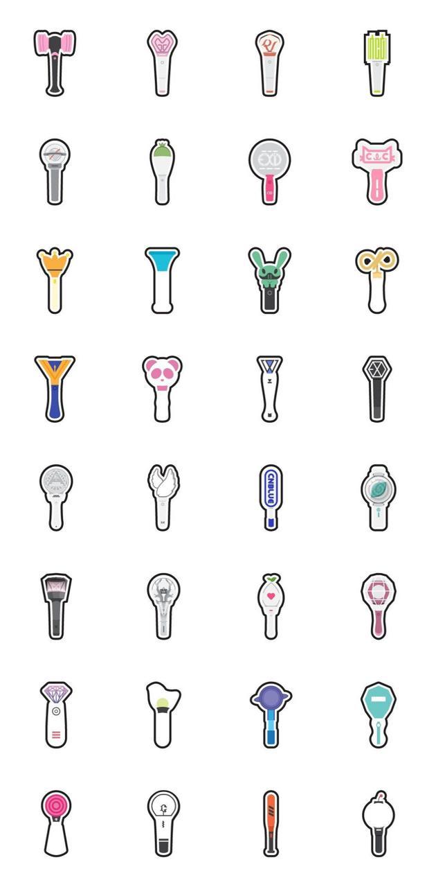 K-POP lightsticks