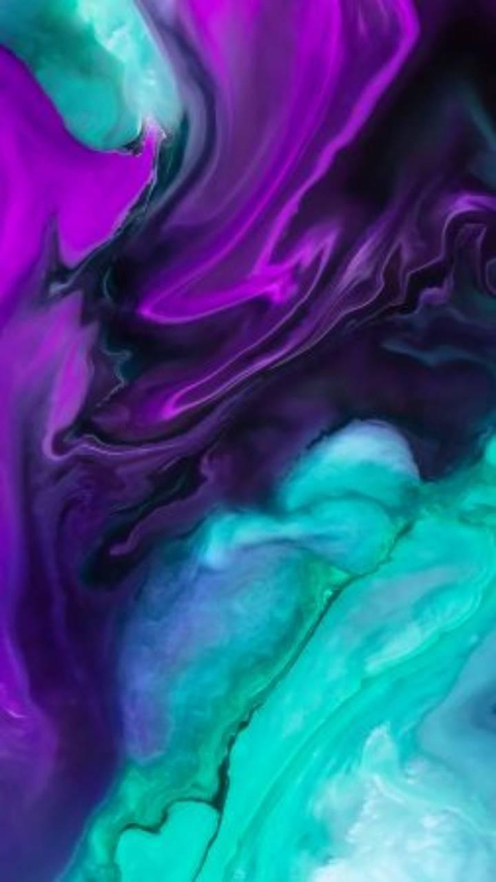 HD turquoise Purple