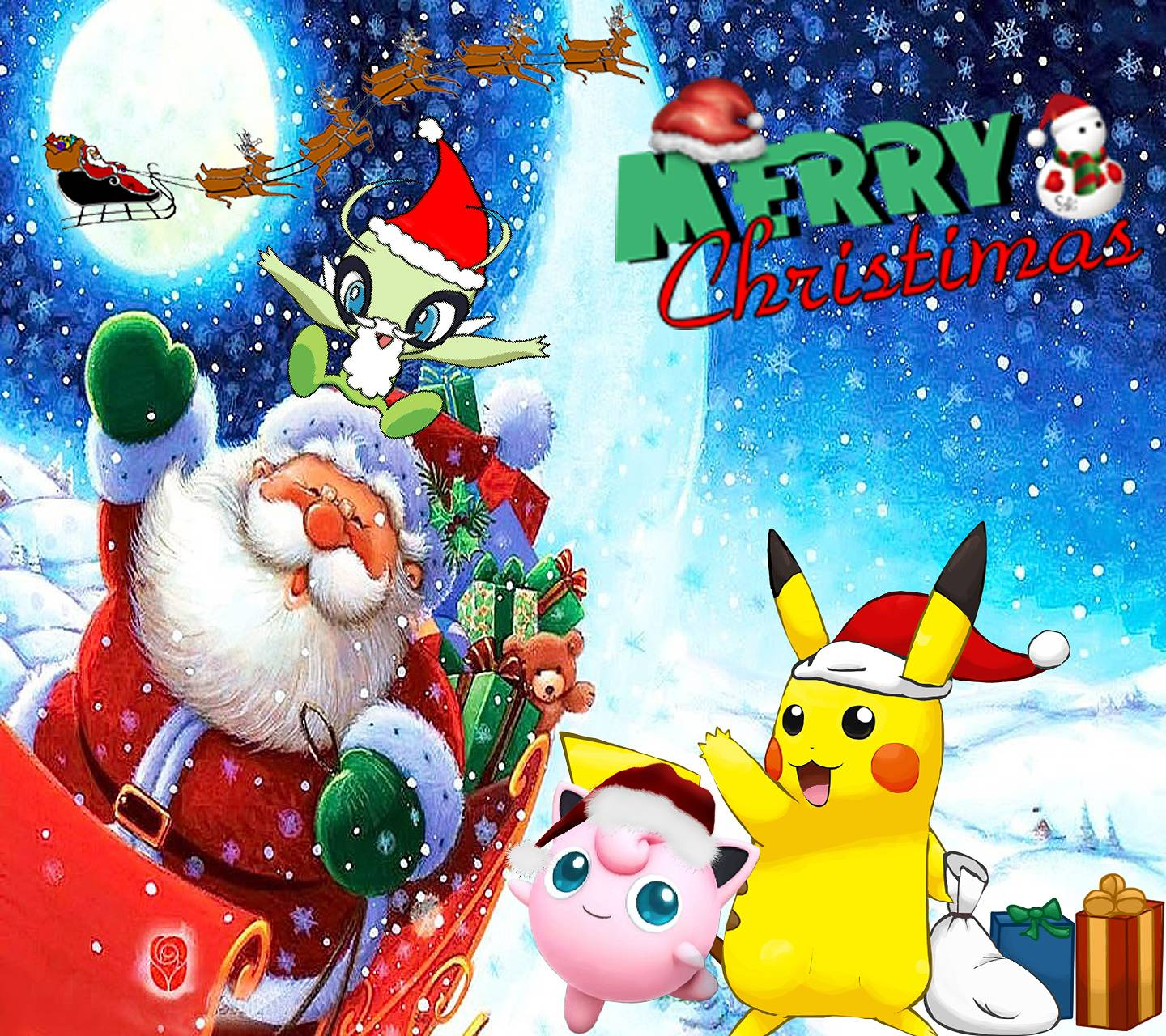 Pokemon Christmas.A Pokemon Christmas Wallpaper By Blacklightning388 3a