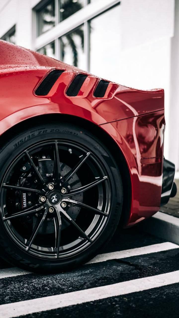 Black Ferrari wheel