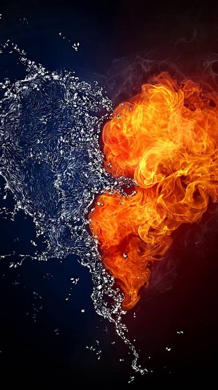 Flame Water Heart