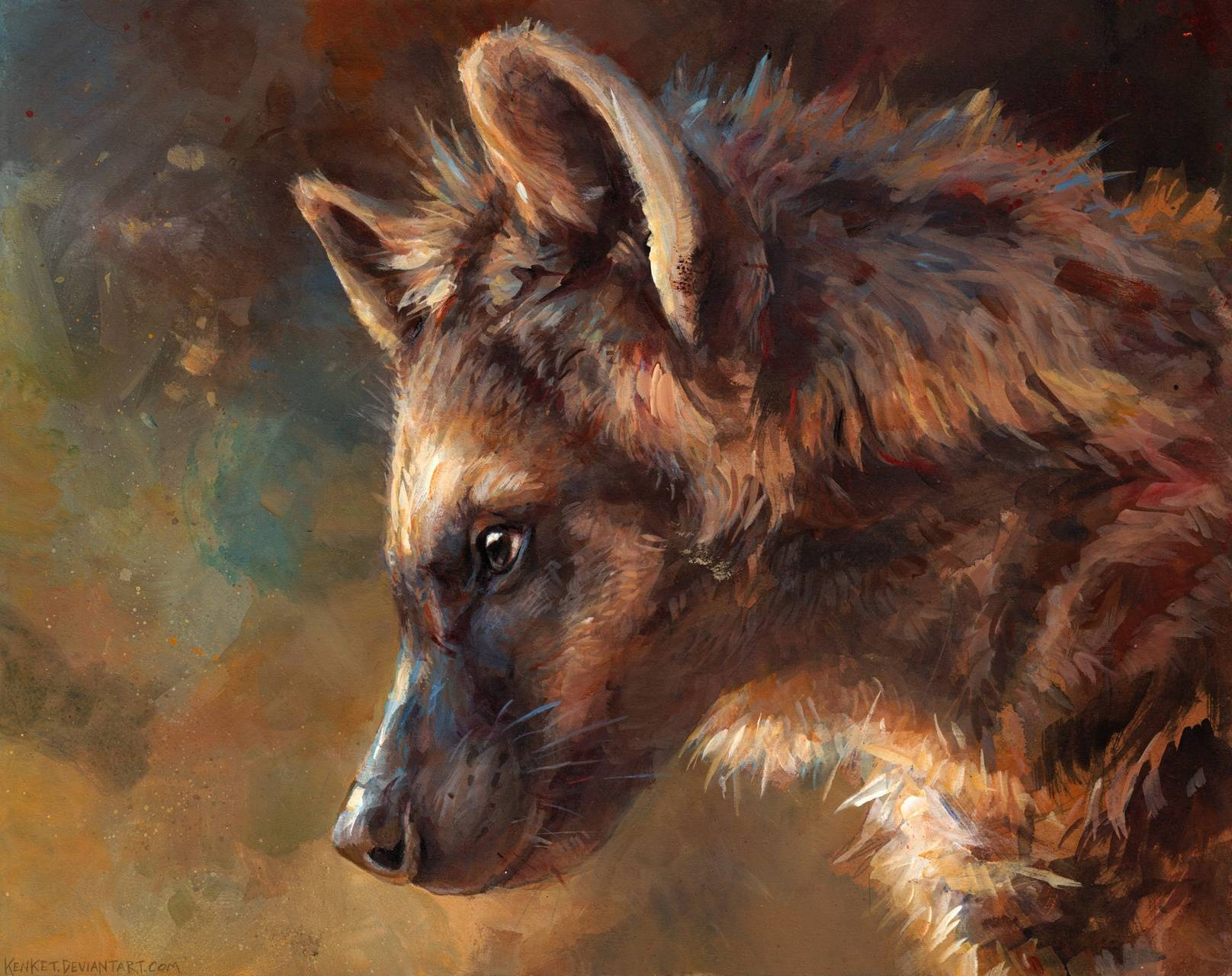 Hyena Art Wallpaper