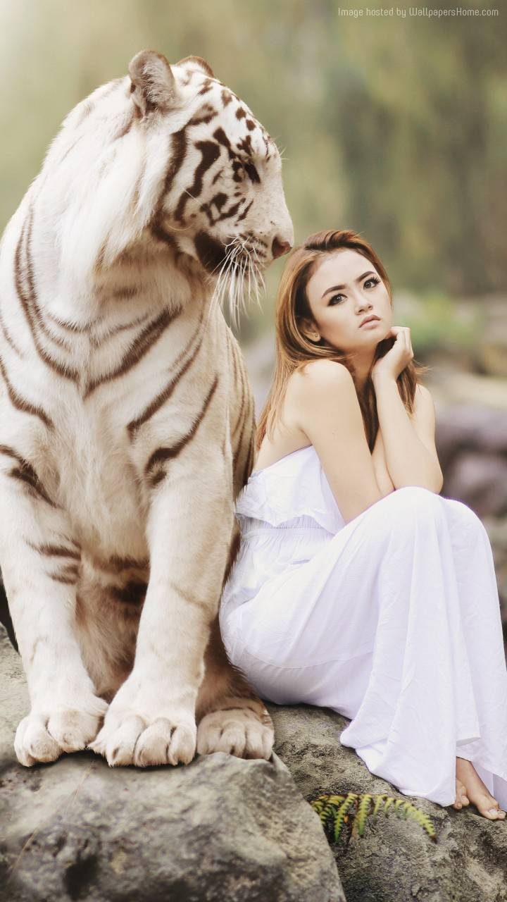 Tiger with Girl