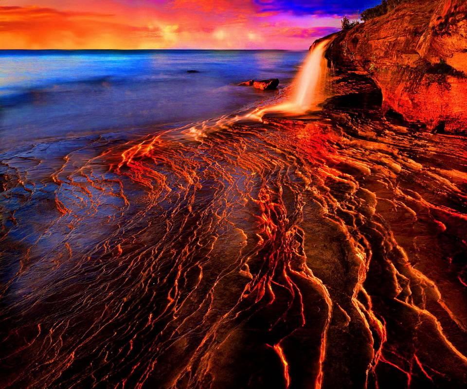 Sunset Waterfall