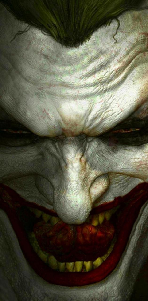 Joker teeth licking
