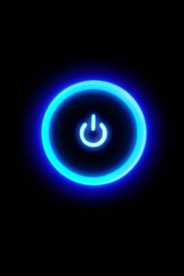 Power Botton Glowing