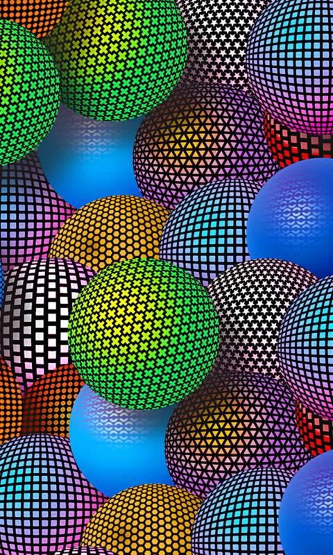 3D Neon Balls