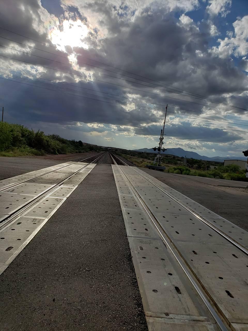 Railroad sun set