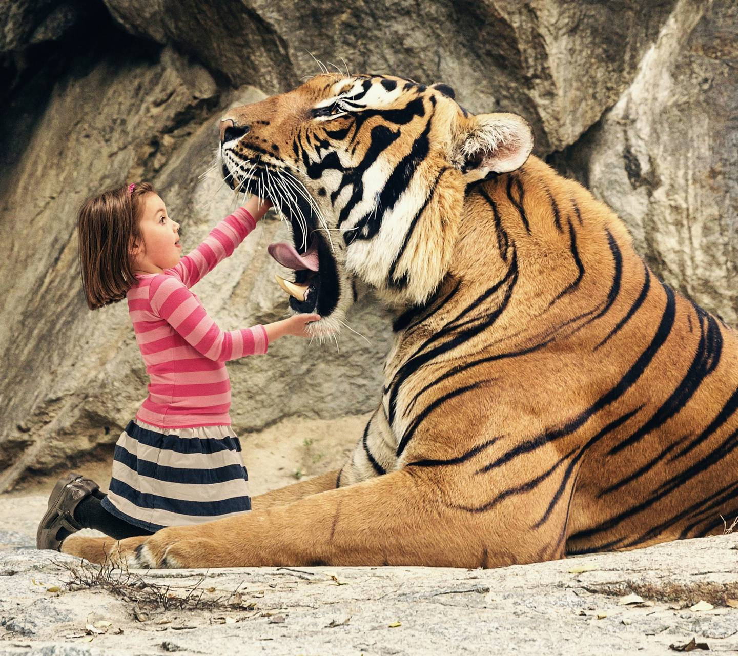 Tiger and Girl
