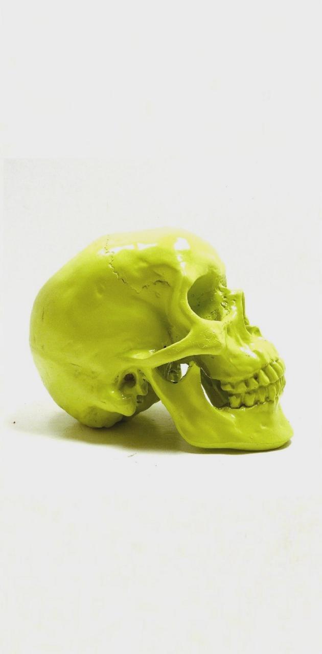 S7 edge Green Skull