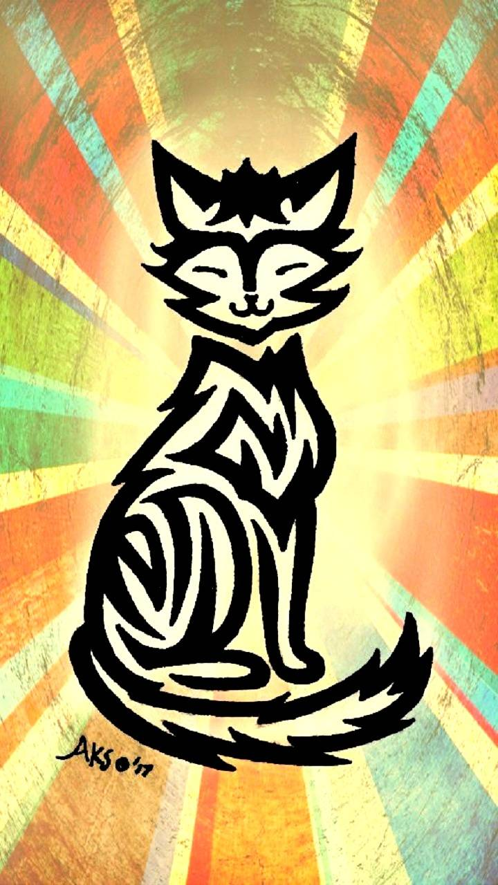Designer Cat Tattoo
