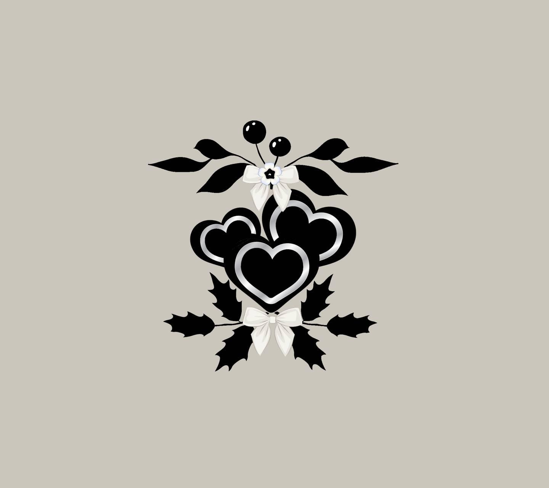 Three black hearts