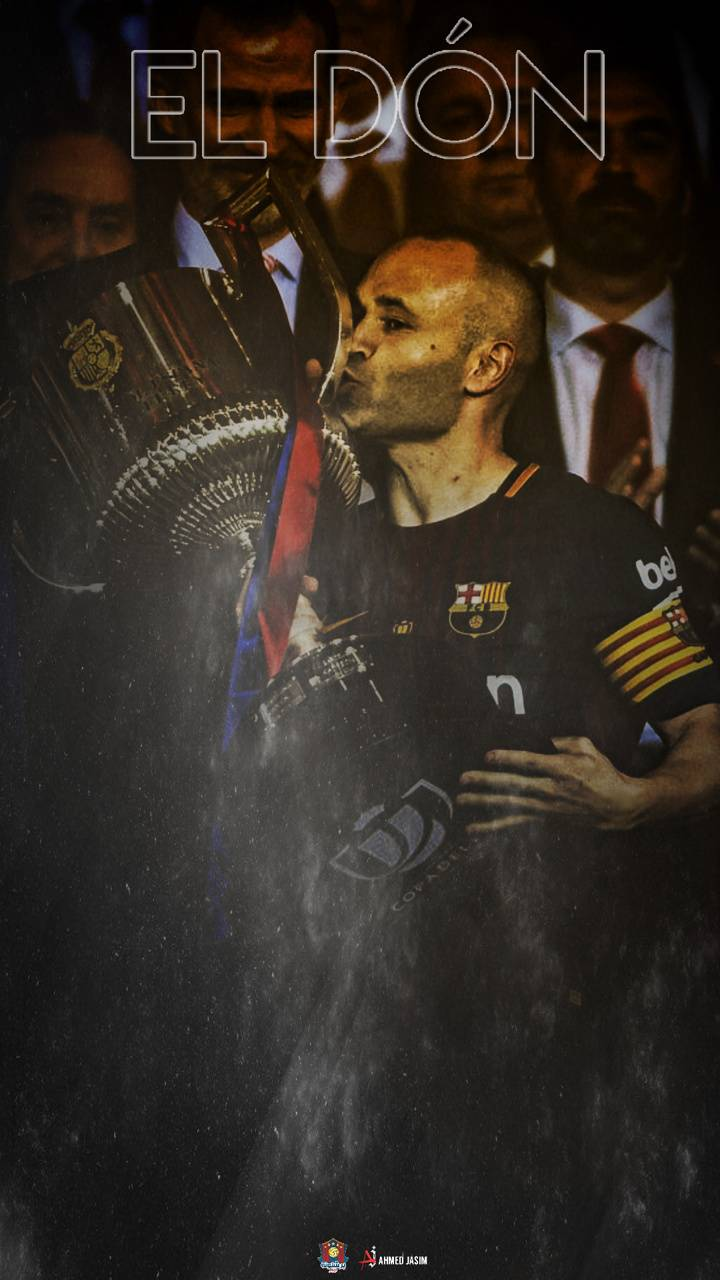 iniesta with copadel