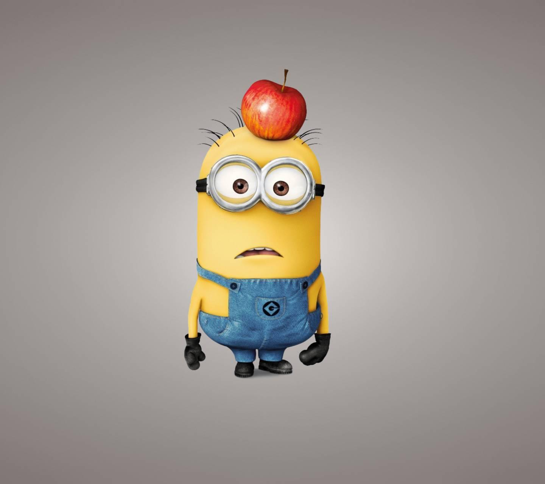 Minion with apple