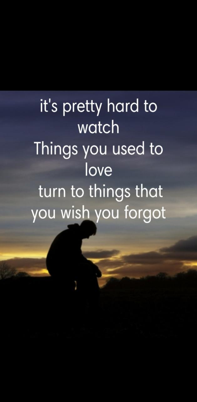 Wish to forget
