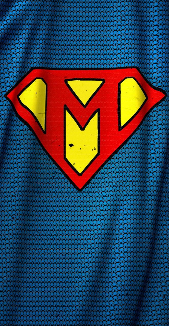 Superman letter M