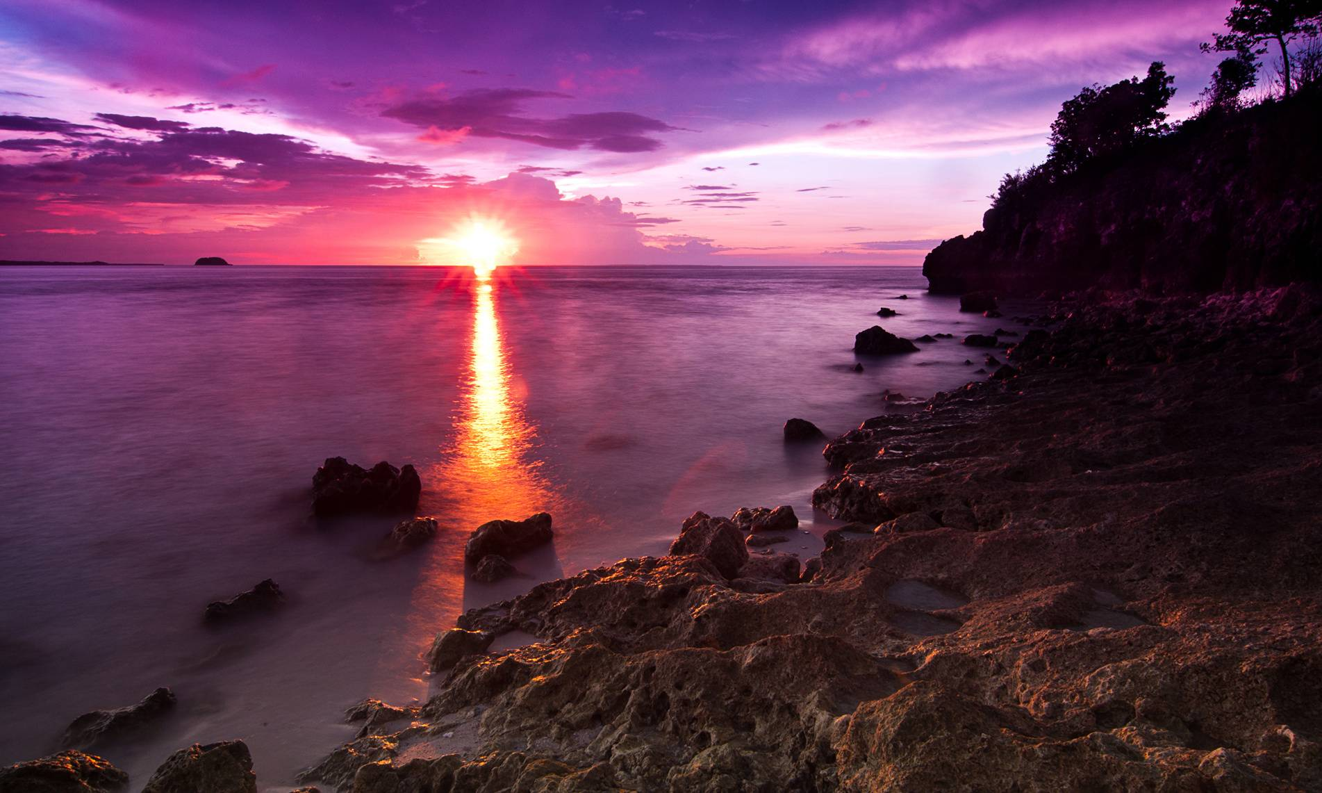 Purple Sunset Beach