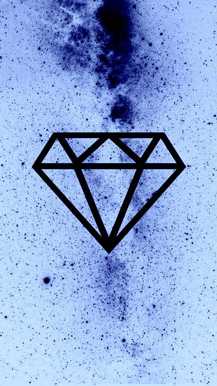 Blue n white diamond