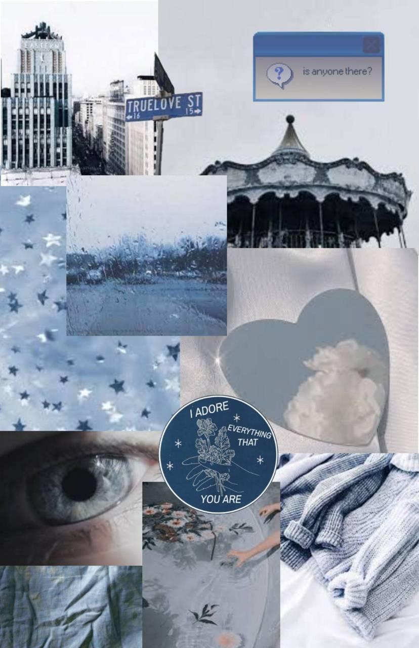 blue aesthetic wallpaper by baileyaddi