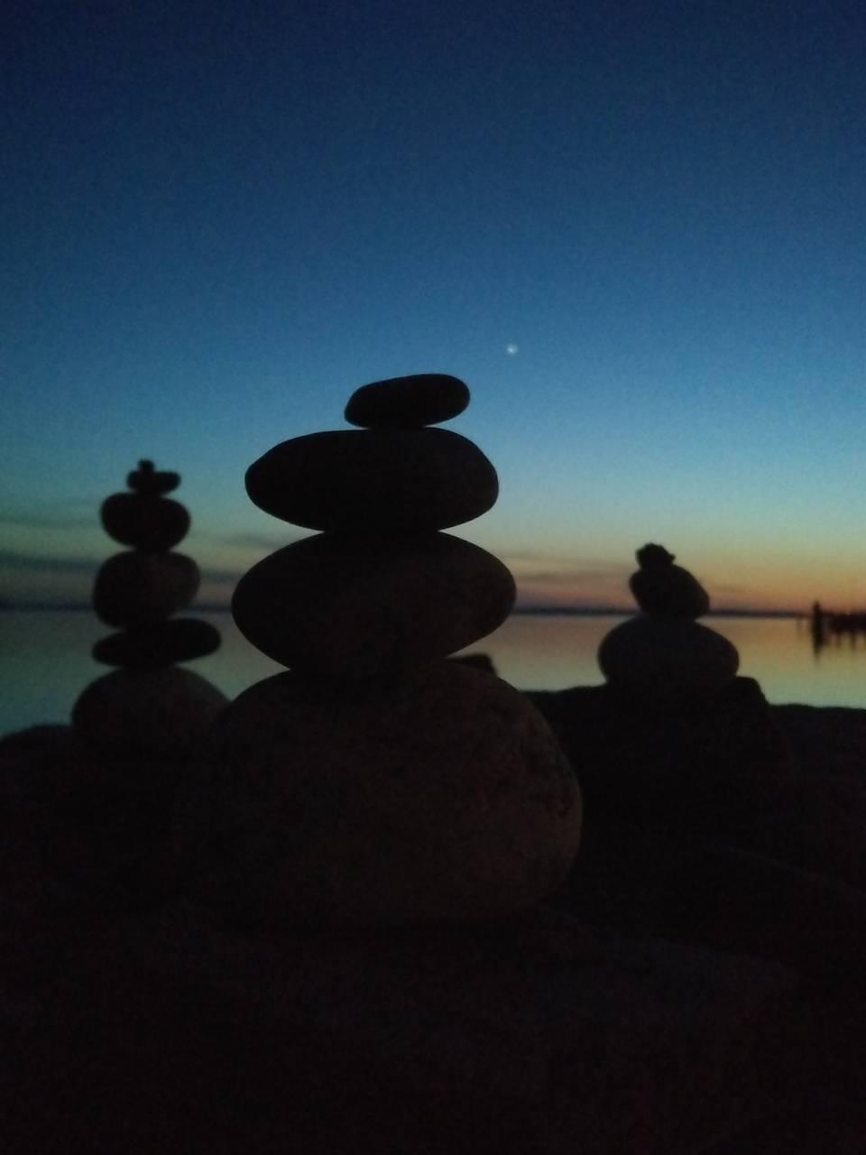 Sunset stones