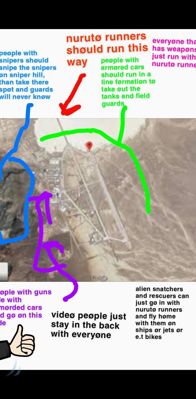 area 51 raid plans