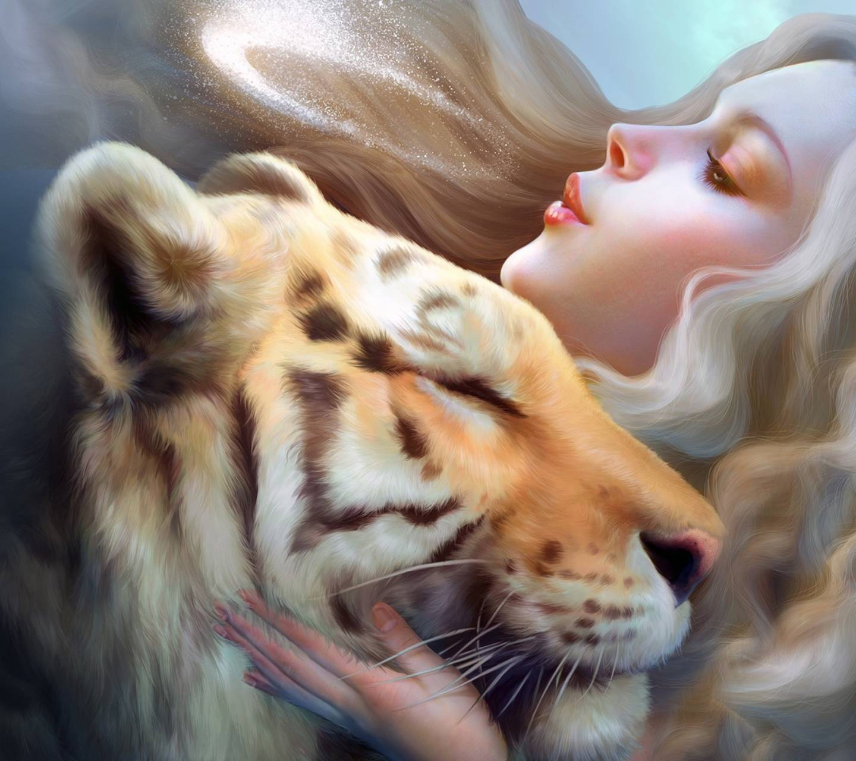 Картинки тигрицы девушка на аву, открытка ромашки