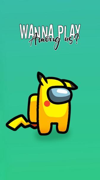 Among us Pikachu