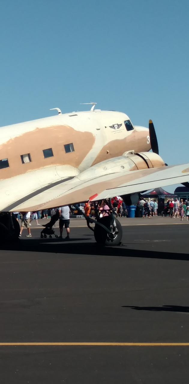 Parked plane