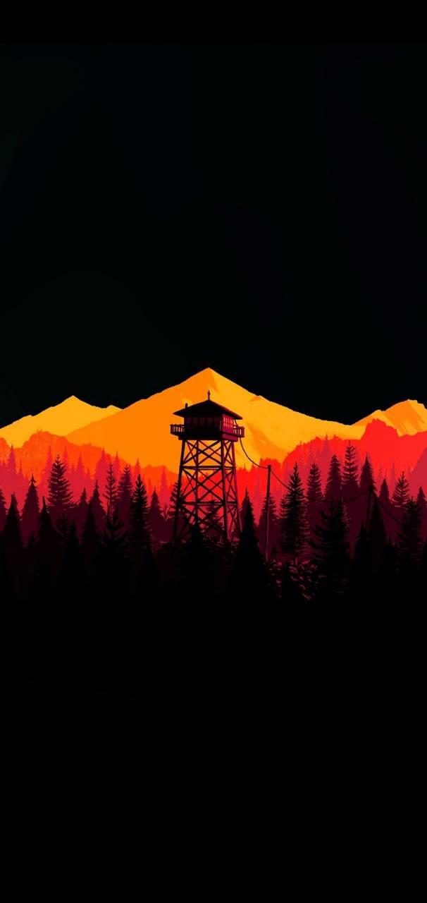 Orange Watch Tower
