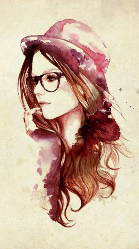 Beautiful girl draw