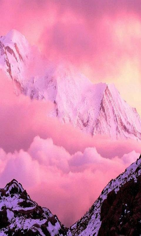 Pink Mountain Clouds