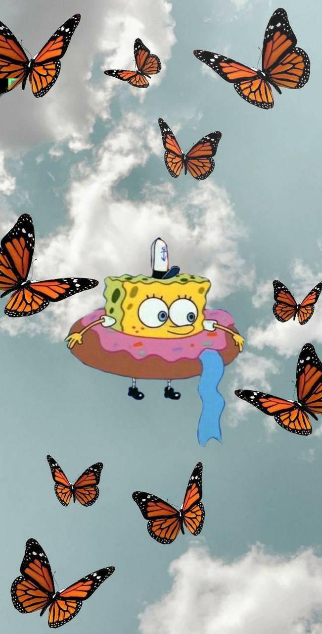 Spongebob in the sky