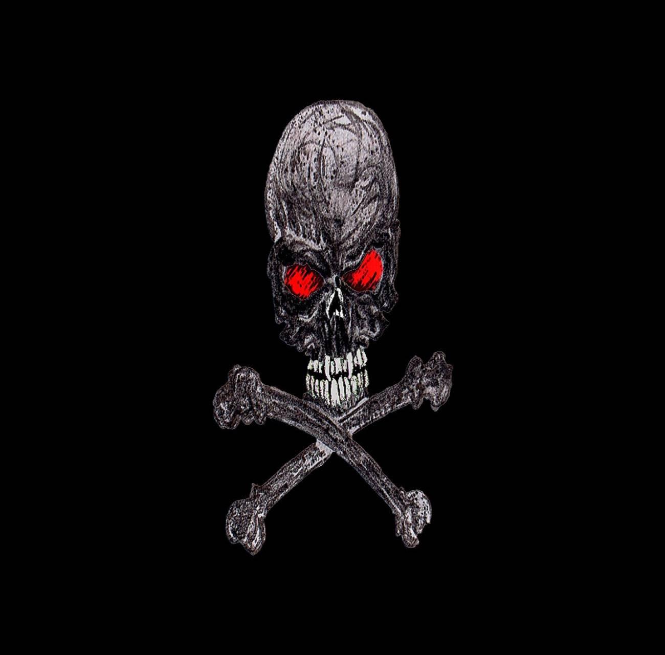 sketchy skull bones