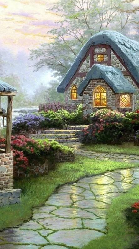 3d Snowy Cottages