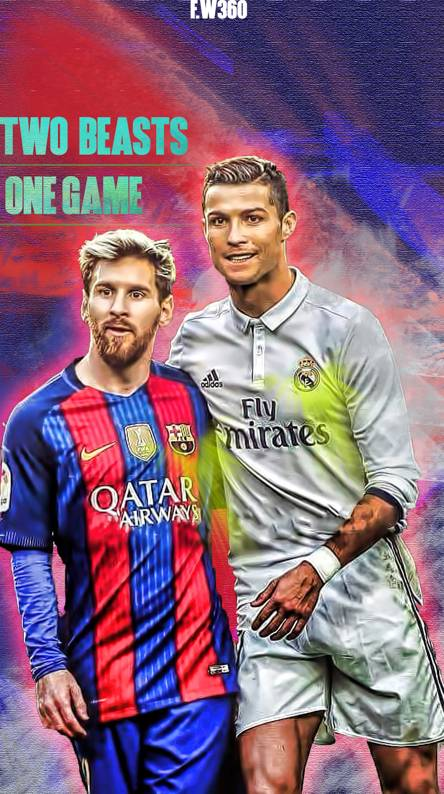 Ronaldo Messi Painting Hd Football