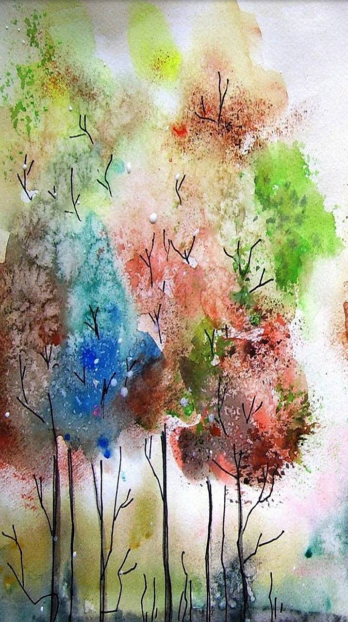 Watercolour forest