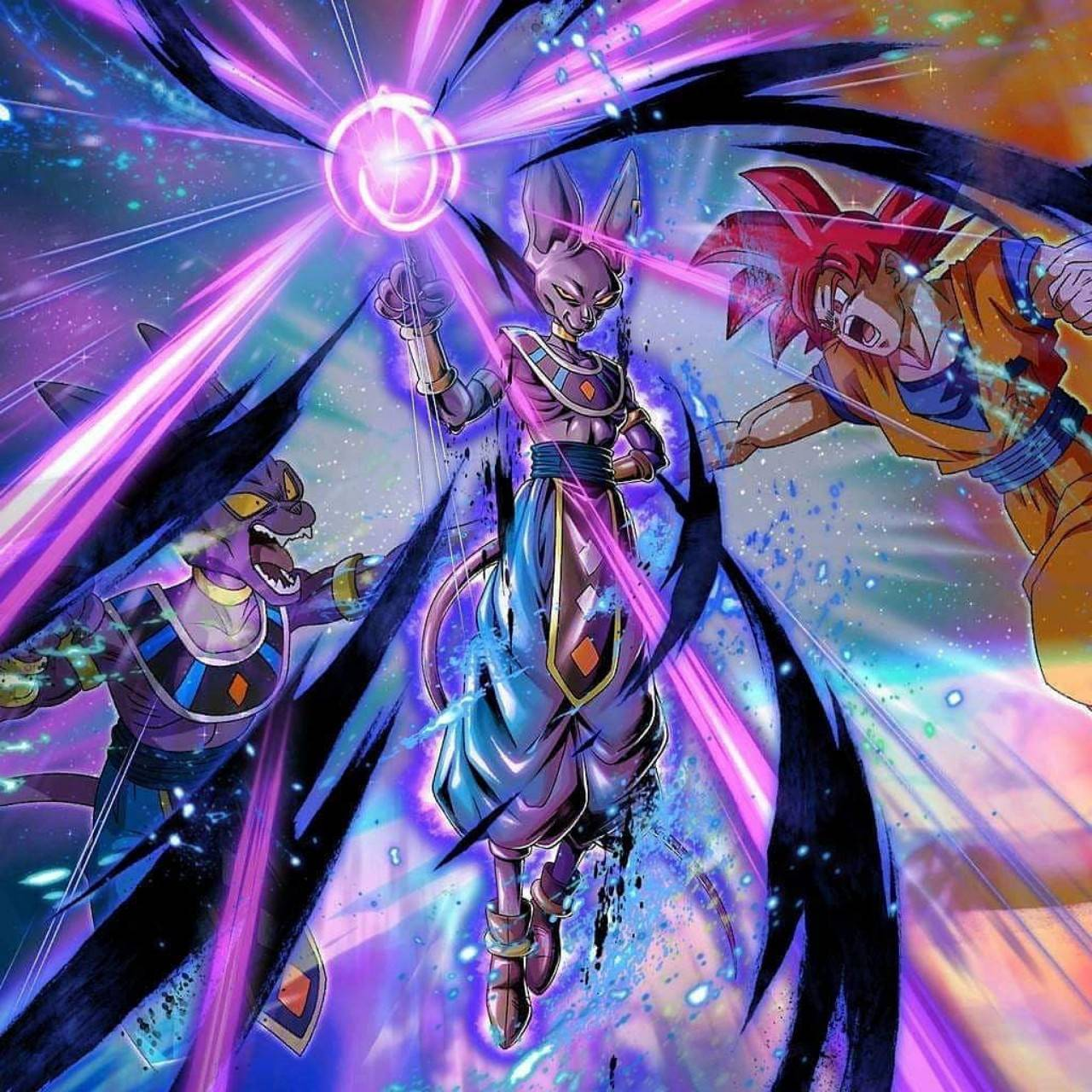 Beerus Vs Goku Wallpaper By Dragonball Art A8 Free On Zedge