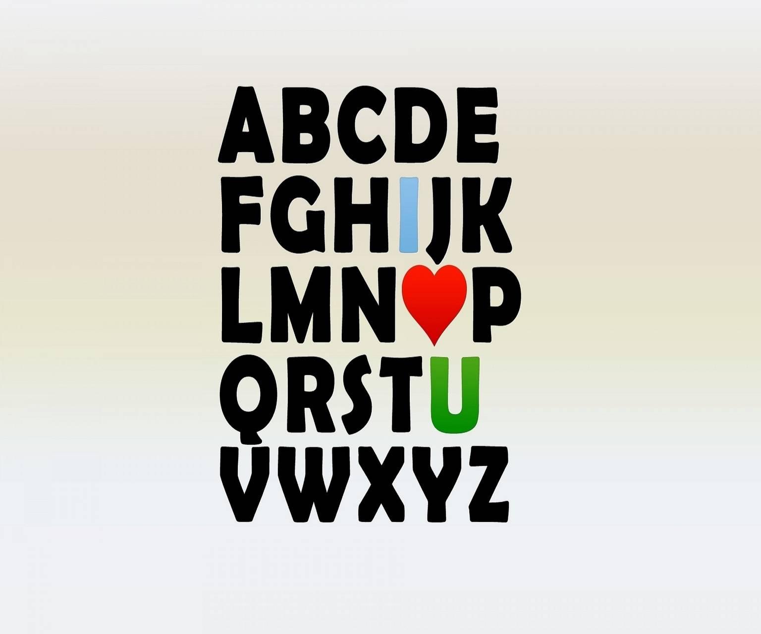 A B C D of love