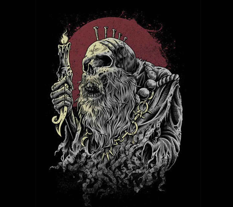skull old night