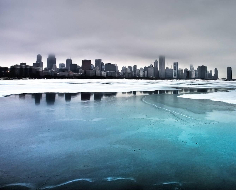 City Frozen Lake