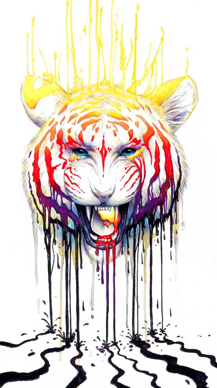 Color Tiger Wallpaper By Thegrzebol 12 Free On Zedge