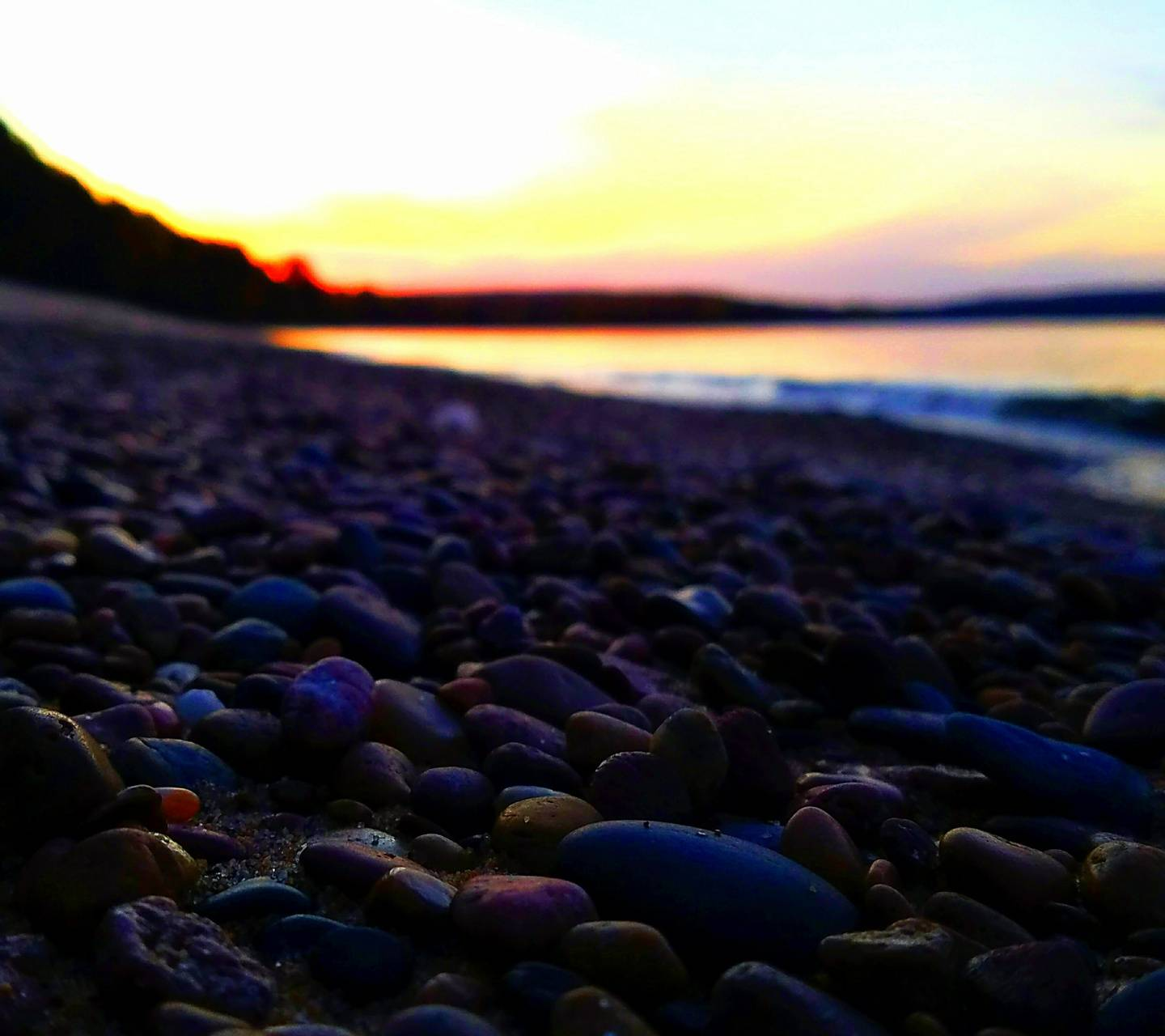 Rocks with Sunset
