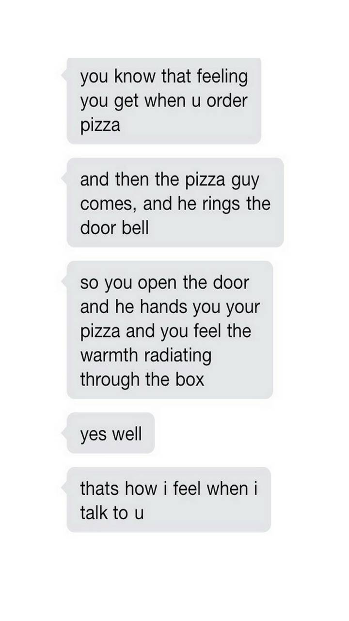 Pizza text message