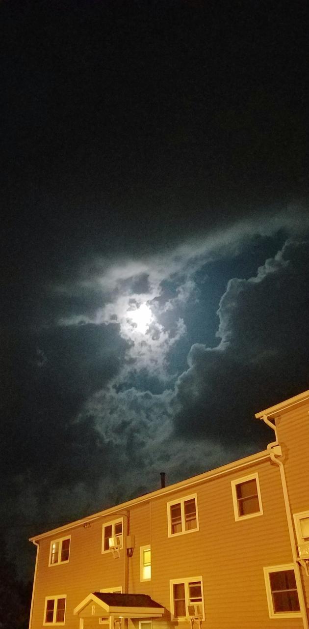 Hiding moon